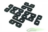Carbon Fiber Servo Spacer (10pcs.) - Goblin 500/700/770
