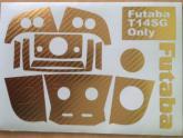 Klebefolien Set gold für Futaba T14SG