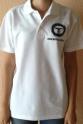 Polo-shirt Farbe weiss, bedruckt Hobby Modellsport-LOGO S