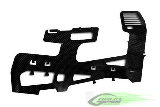 Thick 2.5mm Carbon fiber frame (1pc) - Goblin 700